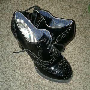DEXflex comfort detailed black tuxedo shoes size 9